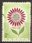 Sellos del Mundo : Europa : Bélgica : Europa Flor(C.E.P.T).