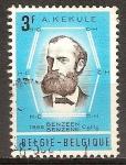 Sellos del Mundo : Europa : Bélgica : Centenario de la Fórmula benceno profesor August Kekulé.