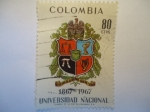 Stamps of the world : Colombia :  1867-1967  UNIVERSIDAD   NACIONAL