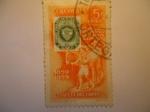 Sellos de America - Colombia -  Centenario del primer sello Postal Colombiano.1859-1959(Estafeta del Correo)
