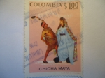 Stamps of the world : Colombia :  CHICHA  MAYA