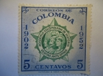Stamps of the world : Colombia :  ACADEMIA COLOMBIANA DE HISTORIA- Veritas Ante Omnia.