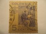 Stamps Colombia -  ANTONIO NARIÑO- IV Congreso Panamericano de Prensa 1946.