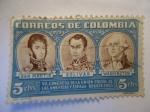 Sellos de America - Colombia -  VI. CONGRESO DE LA UNION POSTAL DE LAS AMERICAS Y ESPAÑA-BOGOTA 1955