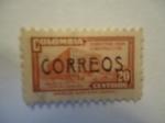Sellos de America - Colombia -  Palacio de Comunicaciones-(Sobretasa para Construcción)