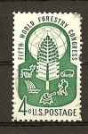 Stamps United States -  Congreso Forestal Mundial. - Seattle./ Papel tintado.