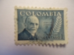 Stamps of the world : Colombia :  JOSÉ MARÍA LOMBANA.