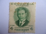 Stamps of the world : Colombia :  Julio Garavito Armero (1865-1920) Astronomo, Matemático, Economista e Ingeniero colombiano.