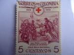 Stamps Colombia -  III.Cent.de San Pedro Claver-Apostol de los Negros.Cruz Roja Nacional (1654-1954)