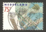 Stamps : Europe : Netherlands :  1354 - Rotterdam, pilar y croquis de edificios