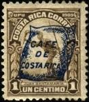 Sellos del Mundo : America : Costa_Rica : Juan Santa María. UPU 1909. Sobreimpreso bolsa de café en 1922.
