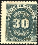 Stamps America - Nicaragua -  Timbre impuesto. 1899.