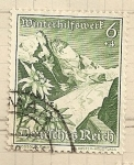 Stamps Germany -  Montaña,Ayuda invierno
