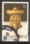 Sellos del Mundo : Europa : Bélgica : Juegos y pasatiempos. Rey (pieza de ajedrez).