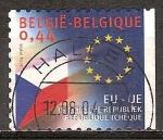 Sellos del Mundo : Europa : Bélgica : La ampliación de la Unión Europea ( bandera de un nuevo miembro. República Checa)