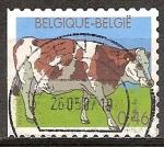Sellos del Mundo : Europa : Bélgica : Granja de  animales.Vaca.