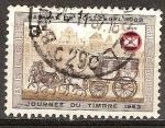 Sellos de Europa - Bélgica -  Dia del sello.La diligencia (1500).