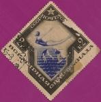 Stamps Russia -  Mundial de los Juegos Olímpicos - Moscú. Clavados acuáticos.