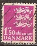 Sellos de Europa - Dinamarca -  Escudo de armas.