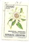 Stamps : America : Argentina :  Mburucuya-Pasionaria