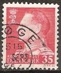 Sellos de Europa - Dinamarca -  El rey Frederik IX.