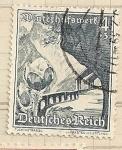 Stamps Germany -  Camino montaña,Ayuda invierno