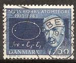 Sellos de Europa - Dinamarca -  50a Aniv de la teoría atómica de Bohr. Profesor Niels Bohr.