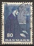 Sellos del Mundo : Europa : Dinamarca : Nacimiento ciento de Georg Jensen 1866-1966 (platero).