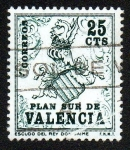 Stamps Europe - Spain -  Plan Sur de Valencia-Escudo del Rey Don Jaime