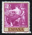 Stamps Spain -  Diego Velázquez - Las Hilanderas