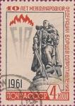 Stamps Russia -  10 años de la Federación Internacional de Movimientos de Resistencia.