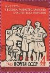 Stamps Russia -  Paz, Trabajo, Libertad, Igualdad, Fraternidad, y la felicidad de todos los pueblos. II