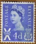 Stamps United Kingdom -  Q. ELISABETH II
