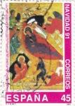 Stamps Spain -  Navidad-91     (E)
