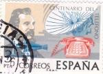 Stamps Spain -  Centenario del teléfono    (E)