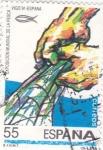 Sellos de Europa - España -  Exposición Mundial de pesca Vigo-91   (E)