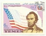 Stamps : Asia : Yemen :  ABRAHAM LINCOLN POR LA PAZ MUNDIAL