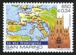 Sellos de Europa - San Marino -  REINO UNIDO - Catedral y abadía de San Agustín e Iglesia de San Martín de Canterbury