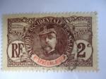 Stamps : Africa : France :  General Louis Faidherbe - Alto Senegal - Afrique Occidentale française.