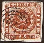 Stamps Europe - Denmark -  Clásicos - Dinamarca