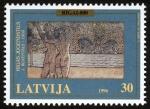 Stamps Latvia -  LETONIA - Centro histórico de Riga