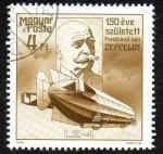 Sellos de Europa - Hungría -  150 Aniversario del nacimiento de Ferdinand Von Zeppelin