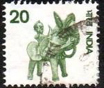 Sellos de Asia - India -  Hombre a caballo