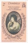 Sellos de America - Dominica -  150 Aniv. nacimiento Ludwing Beethoven