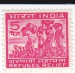 Stamps India -  Refugiados