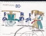 Stamps of the world : Portugal :  600 años de la creación del cuerpo de bomberos
