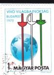 Sellos de Europa - Hungría -  Campeonato Mundial de Esgrima Budapest-75
