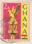 Sellos de Africa - Ghana -  Estatua Aguila