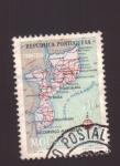 Sellos de Europa - Portugal -  mapa de mozambique