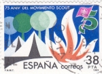 Stamps Spain -  75 Aniv. del Movimiento Scout     (F)